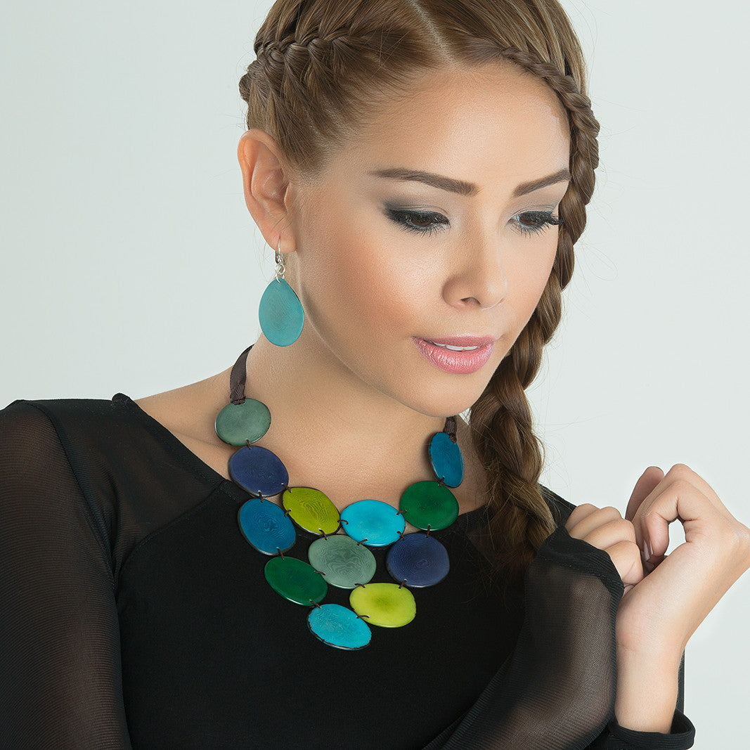 Victoria Necklace - Blue & Green Tones