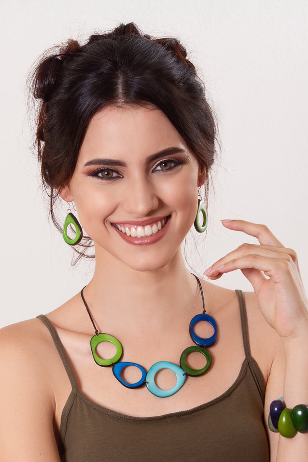 Donut earrings - Green
