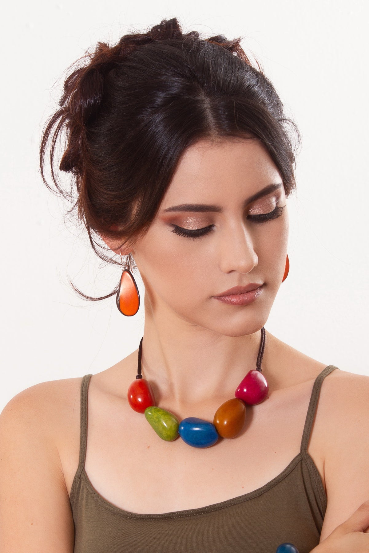 Escama Earrings - Orange