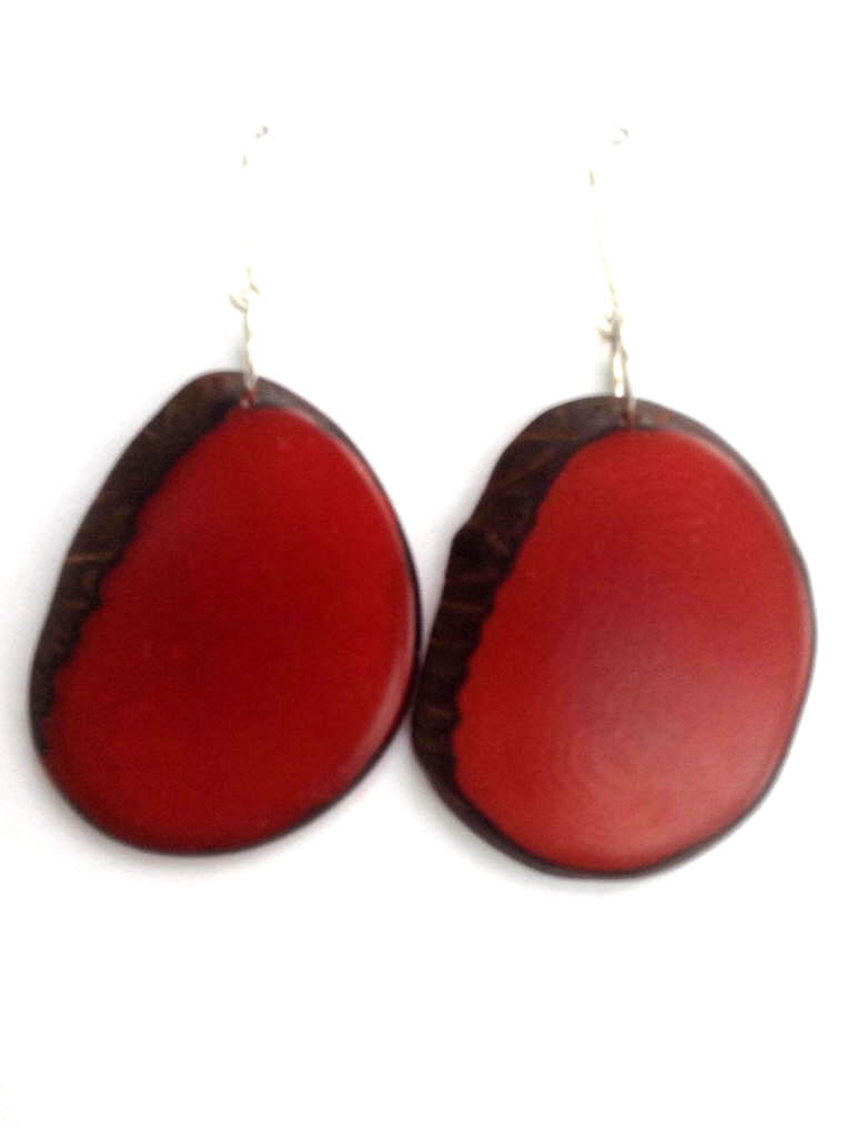 Escama Earrings - Red