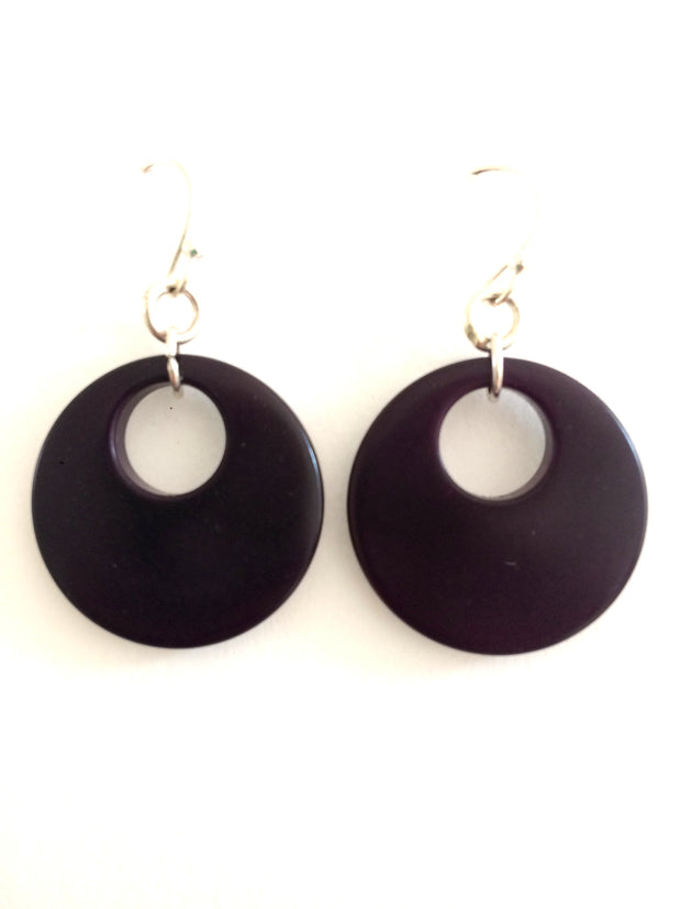 Luna Earrings - Purple Dark