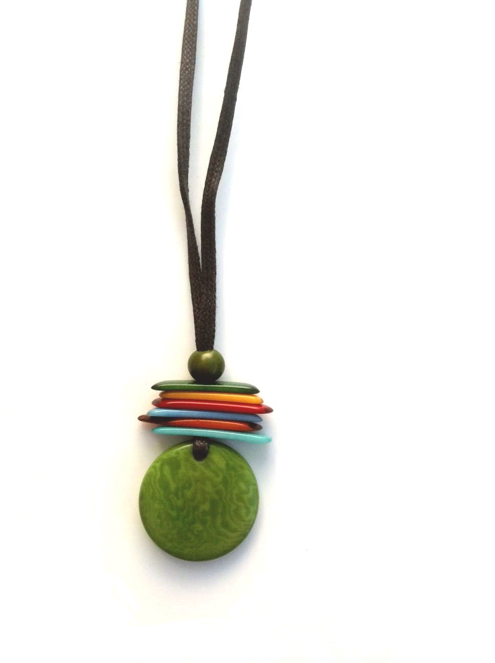 Maka pendant necklace - Green Pistachio