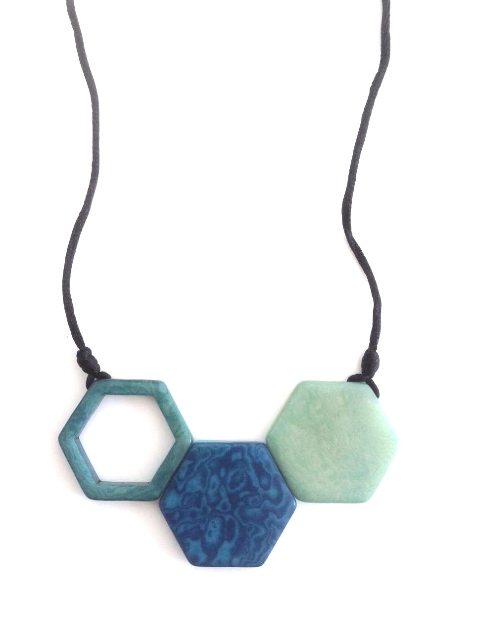 Rombos Necklace - Blue Tones