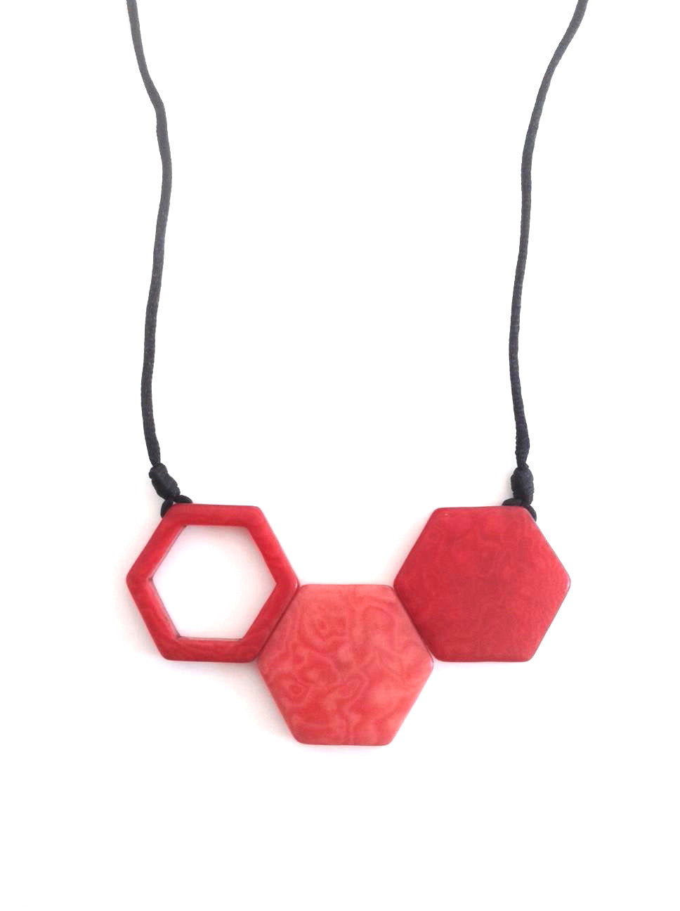 Rombos Necklace - Red & Pink Tones