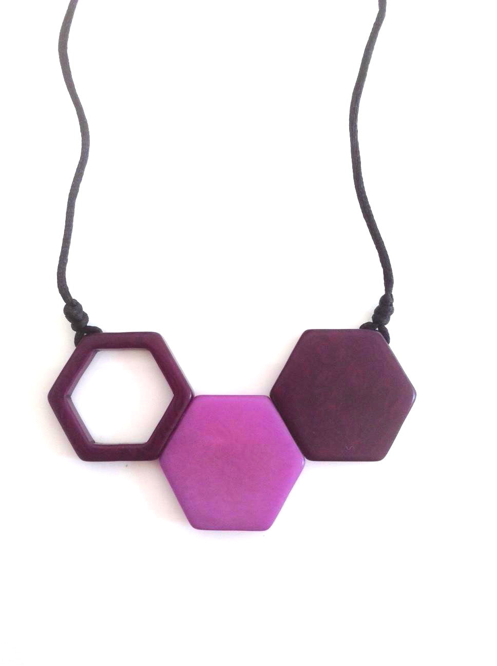 Rombos Necklace - Purple Dark Tones