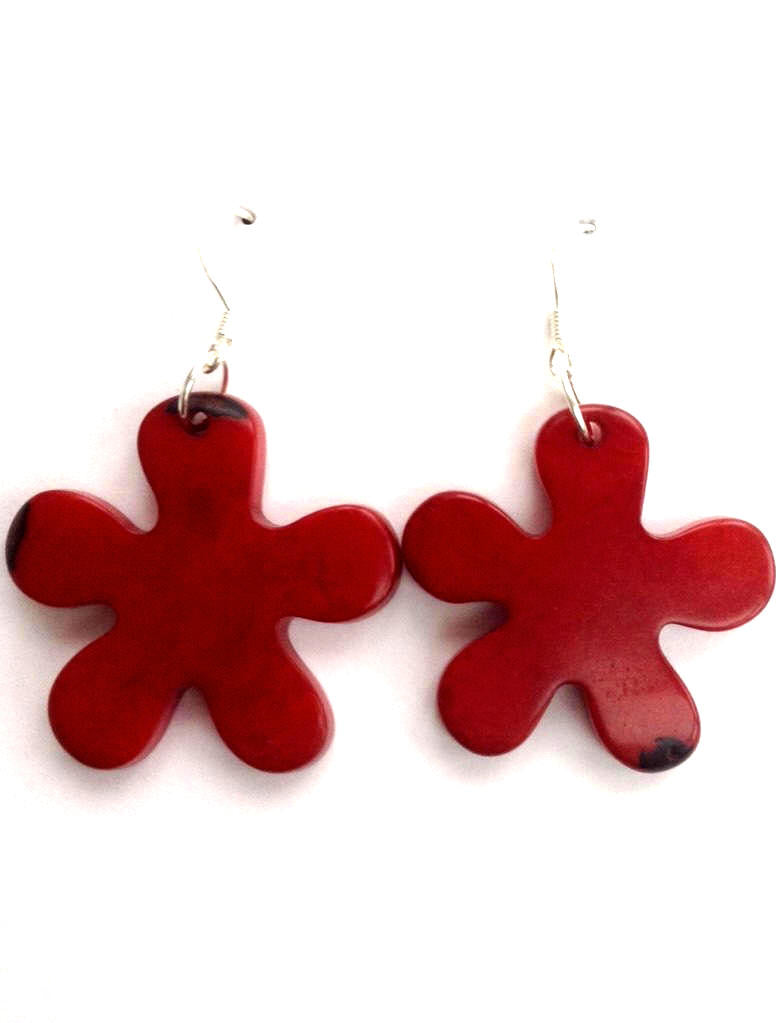 Roseta Earrings -  Red