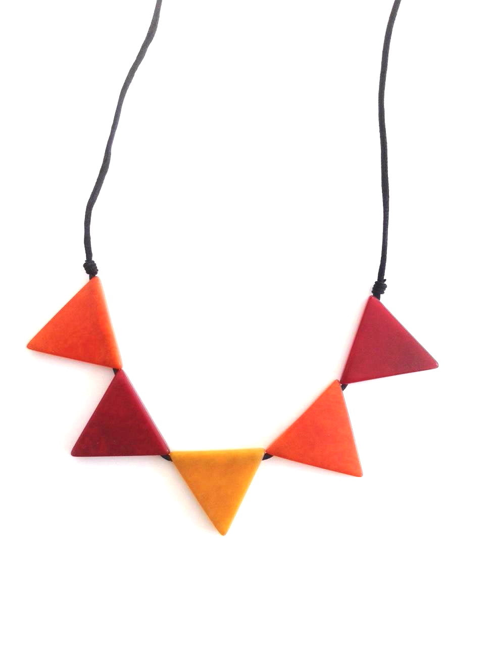 Sol necklace - Orange/Mustard/Red Tones