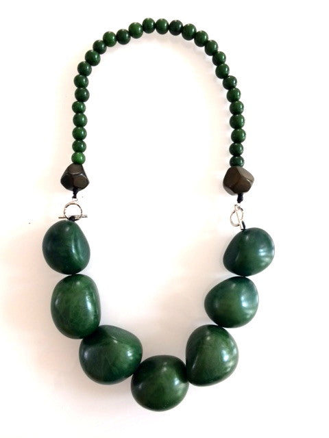 Tagua necklace x 7 - Green Hunter