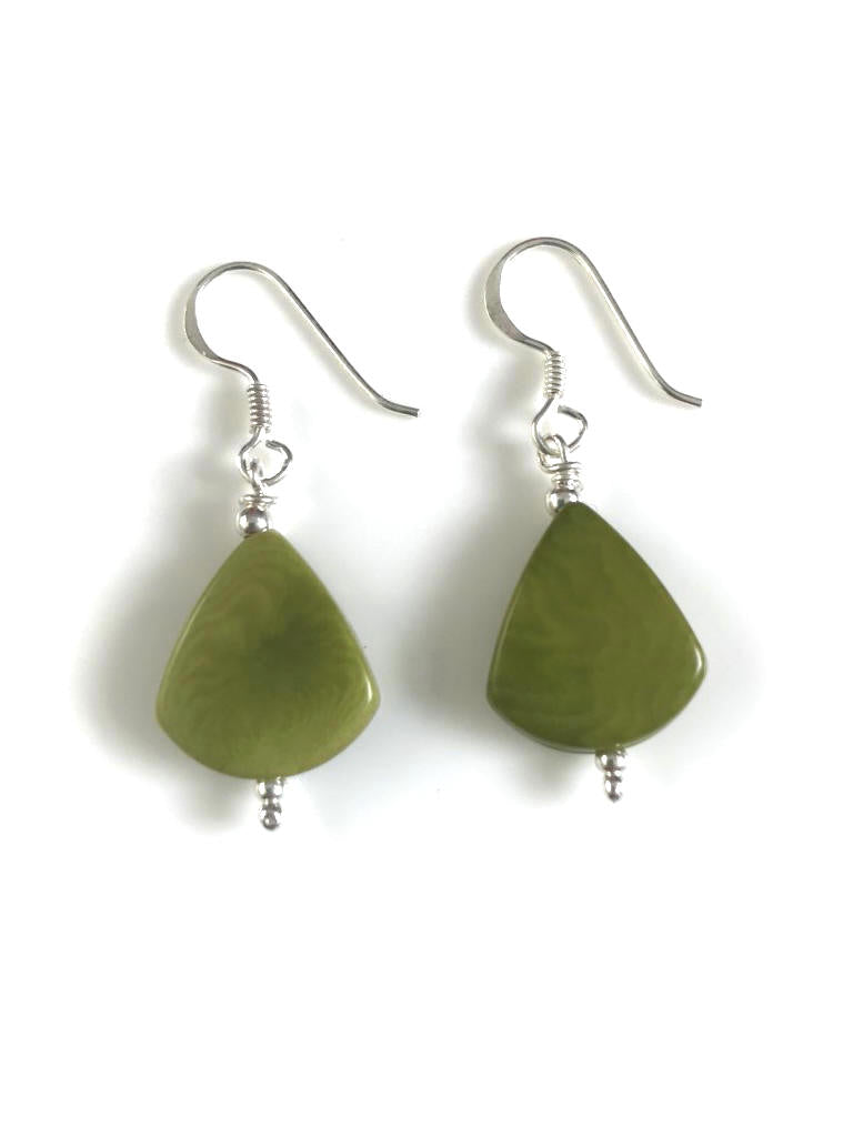 Lagrimas Earrings (14mm)  - Green Pistachio