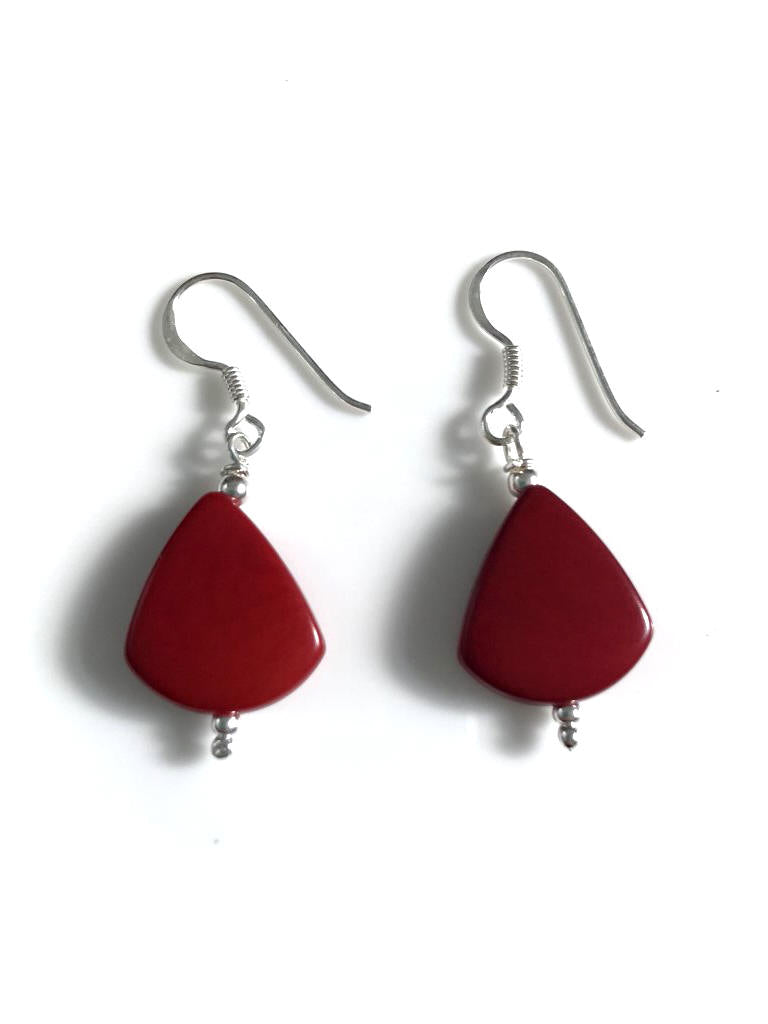 Lagrimas Earrings (14mm)  - Red