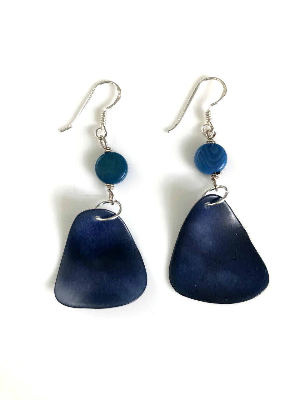 Pluma Earrings - Turqouise/navy