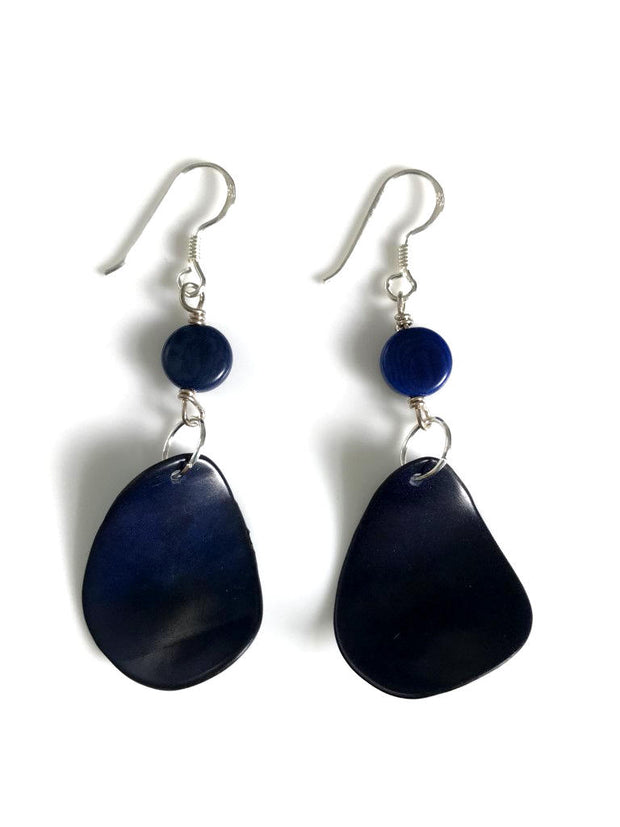 Pluma Earrings - Navy