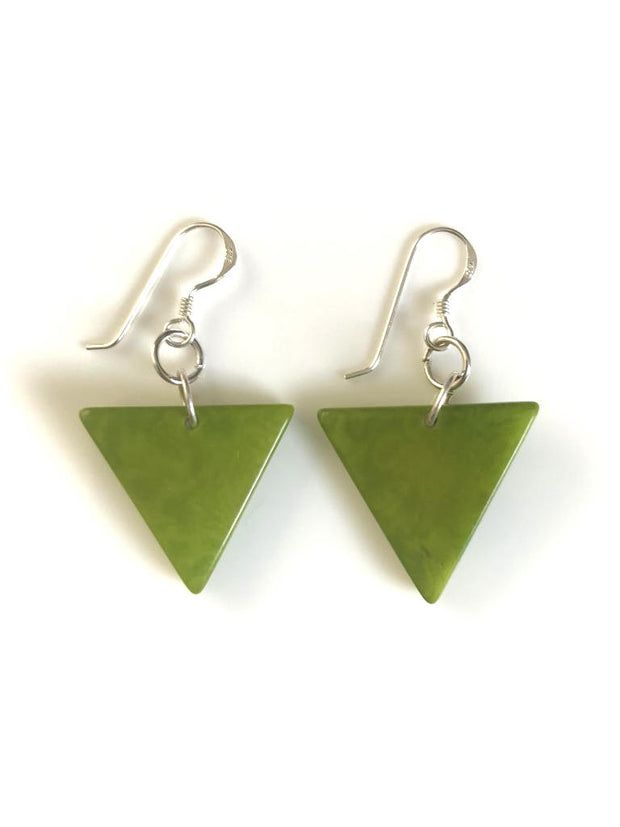 Triangulo earrings (22mm) - Green