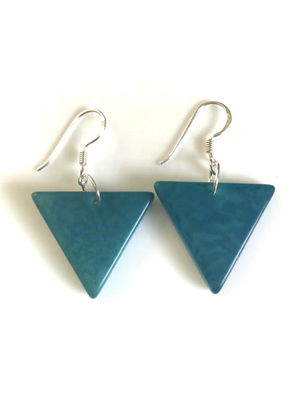 Triangulo earrings (22mm) - Turquoise