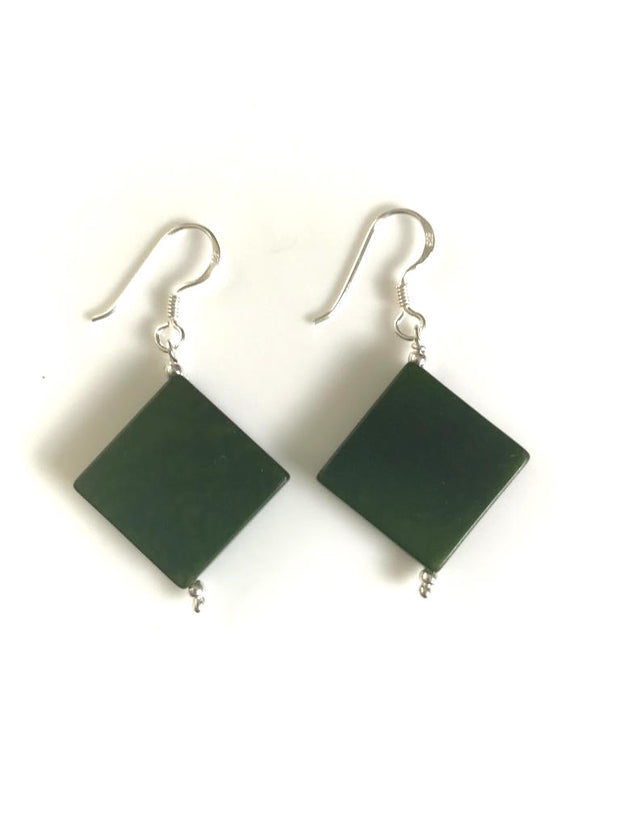 Diamante earrings (18mm) - Green Hunter