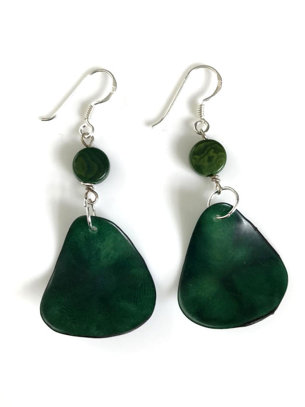 Pluma Earrings - Green Hunter