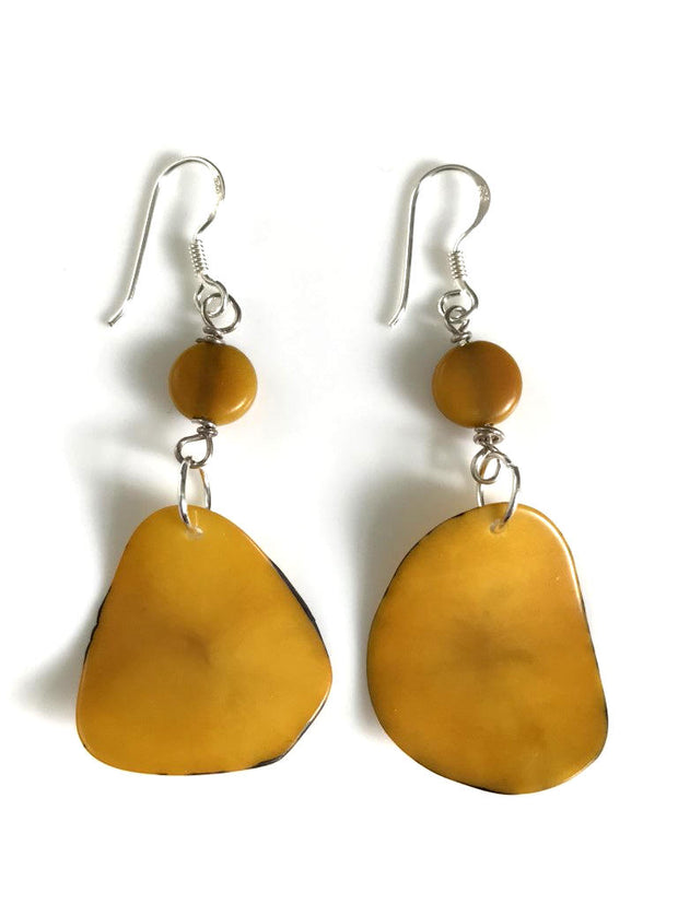 Pluma Earrings - Mustard