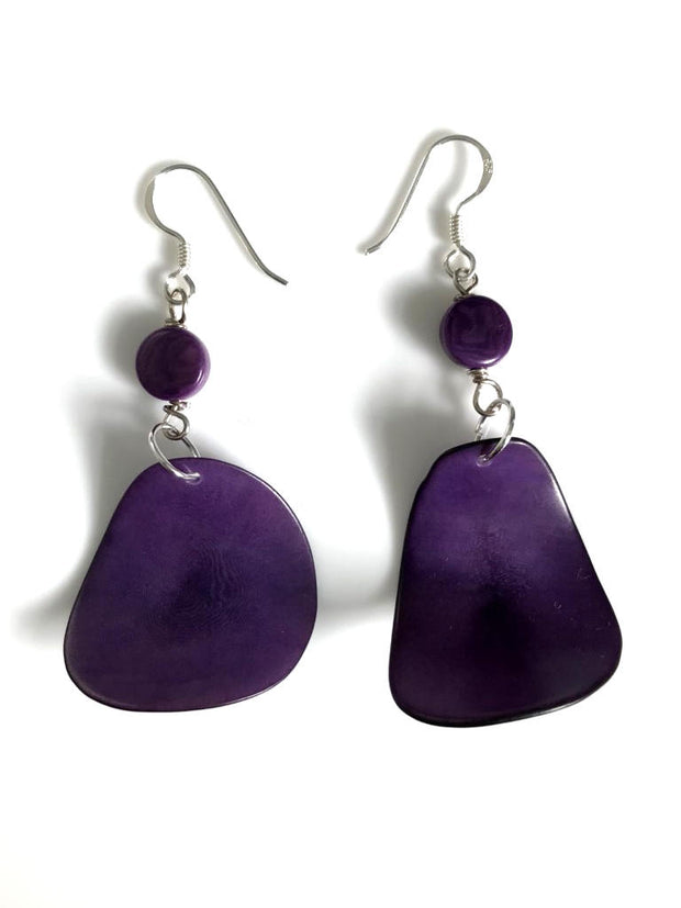 Pluma Earrings - Purple