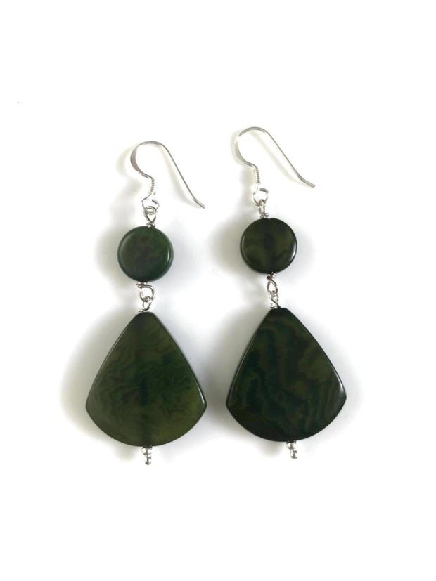 Princesa Earrings - Green Hunter