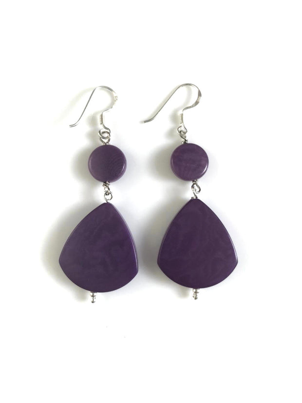 Princesa Earrings - Purple