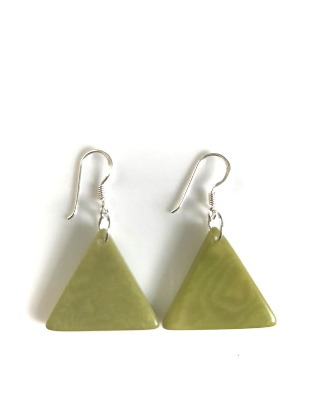 Piramide earrings (22mm) - Green