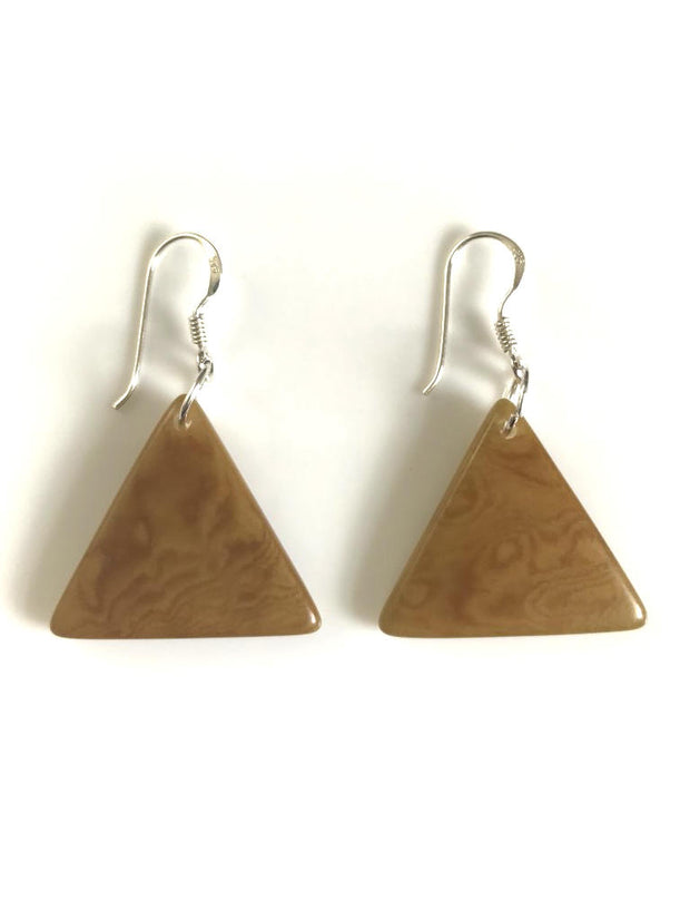 Piramide earrings (22mm) - Light Brown