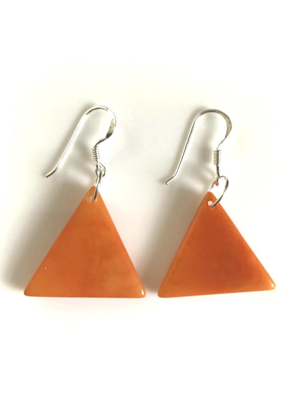 Piramide earrings (22mm) - Orange