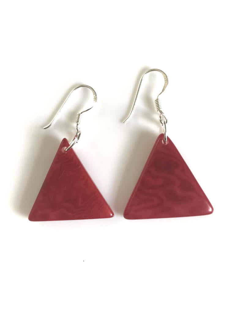 Piramide earrings (22mm) - Red