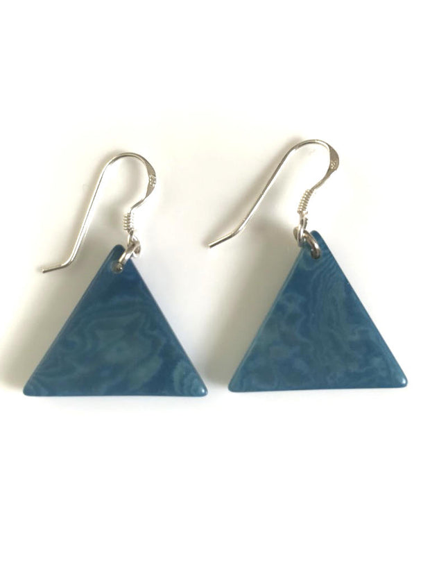 Piramide earrings (22mm) - Turquoise