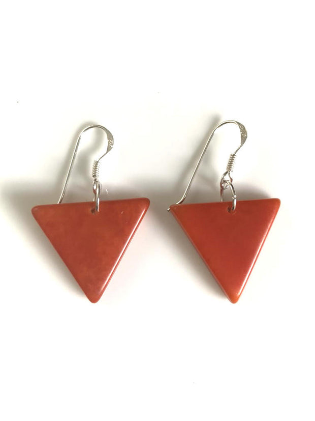 Triangulo earrings (22mm) - Orange