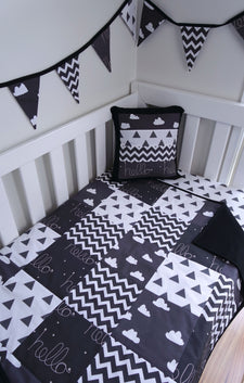 Black & White Hello Clouds Nursery Collection