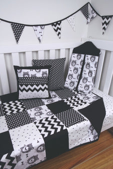 Black & White Bowtie Bear Nursery Collection