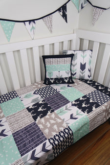Navy & Mint Woodland Nursery Collection