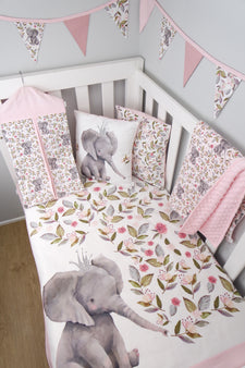 Pink Floral Elephant Nursery Collection