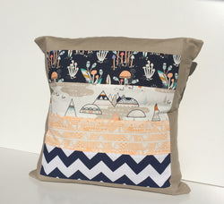 Indian Teepee Patchwork Cushion Cover
