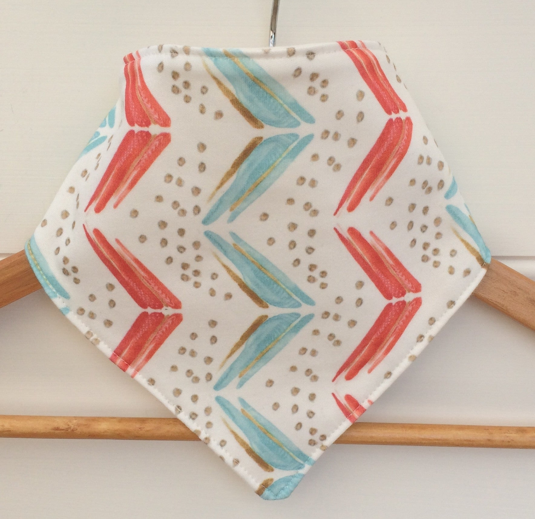 Organic Bandana Bib in Water Arrows