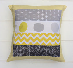 Yellow & Grey Cushion Cover