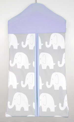 Nappy Stacker - Purple & Grey Elephant