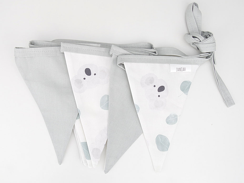 Australian Koala Bunting Flags (Grey)
