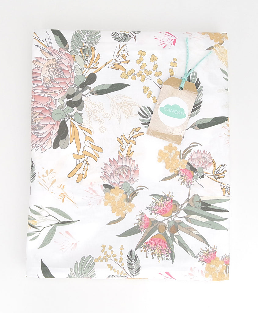 Fitted Cot Sheet ADD-ON to the Australian Wildflower Collection