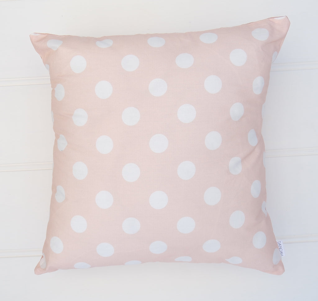 Pink Polka Dot Cushion Cover