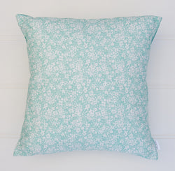 SALE - Aqua Floral Cushion Cover