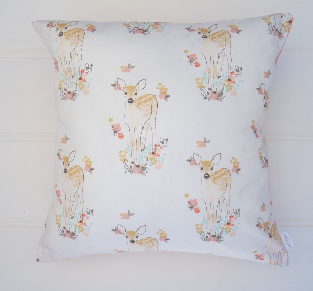 White Deer Cushion Cover