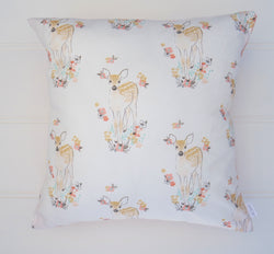SALE - White Fawn Cushion Cover