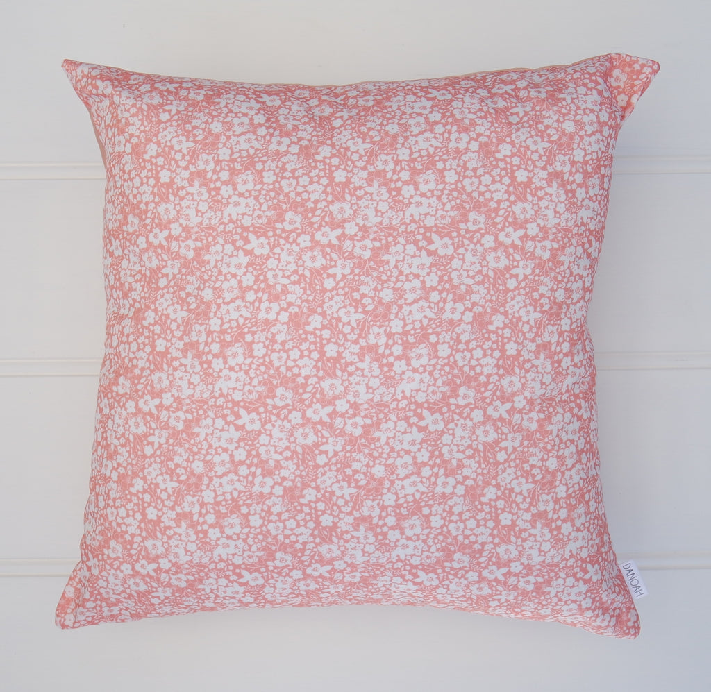 SALE - Pink Floral Cushion Cover