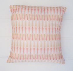 SALE - Pink & Gold Arrows Cushion Cover