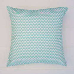 SALE - Aqua Geometric Cushion Cover