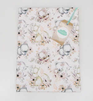 Fitted Cot Sheet ADD-ON to the Floral Australian Animal Collection