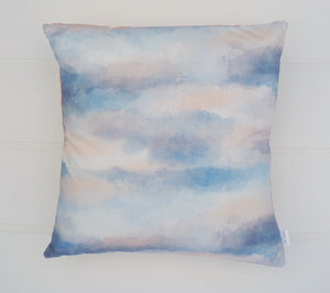 SALE - Pink & Blue Abstract Cushion Cover