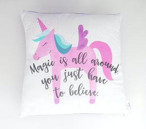 Purple Unicorn Cushion Cover